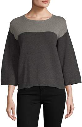 Eileen Fisher Cashmere Wool Boxy Sweater