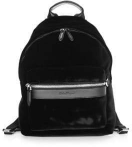 Salvatore Ferragamo Velvet Backpack