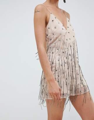 Asos Design DESIGN Star Embellished Cami Playsuit