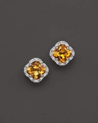 Bloomingdale's Citrine and Diamond Stud Earrings in 14K Yellow Gold - 100% Exclusive