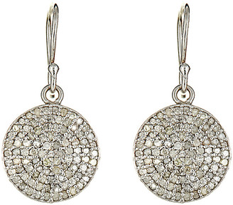 Forever Creations USA Inc. Forever Creations Silver 1.36 Ct. Tw. Diamond Drop Earrings