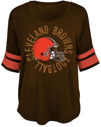 5th & Ocean Women's Cleveland Browns Circle Logo T-Shirt