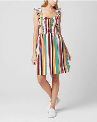 Juicy Couture MAROC STRIPE MICROTERRY SMOCKED DRESS