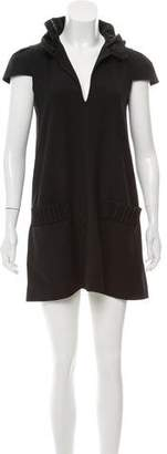 Alexander Wang Ruffle-Trimmed Wool Dress