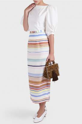 Whit Barrel Striped Skirt