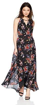 Sangria Women's Petite High-Low Maxi Dress