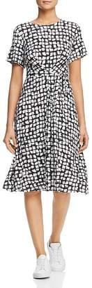 Max Mara Nazario Belted Brushstroke-Print Dress