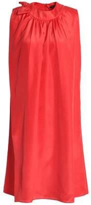 Raoul Fluted Silk-Chiffon Dress