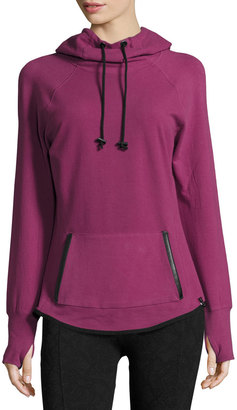 Marc NY Performance Hooded Cowl-Neck Raglan Sweatshirt, Ripe Fig Heather $45 thestylecure.com