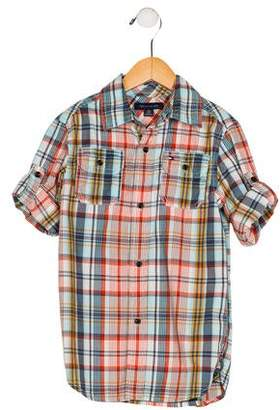 Tommy Hilfiger Boys' Short Sleeve Plaid Shirt