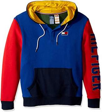Tommy Hilfiger Adaptive Men's Hoodie Sweatshirt Popover with Magnetic Buttons
