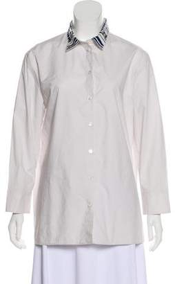 Bottega Veneta Collared Button-Up Top