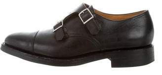 John Lobb Buffalo Leather Monk Strap Dress Shoes