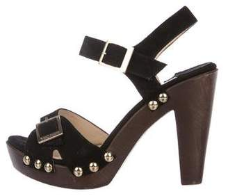 Jimmy Choo Suede Studded Sandals