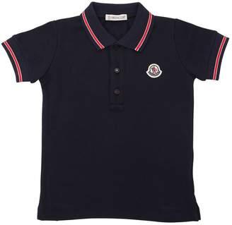 Moncler Cotton Piqué Polo Shirt W/ Logo