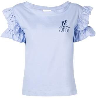 Semi-Couture Semicouture ruffled sleeves T-shirt