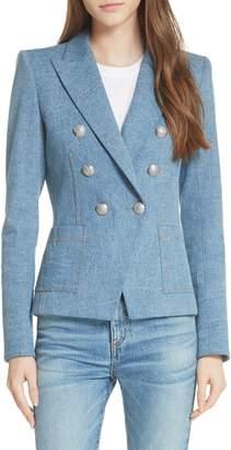 Veronica Beard Caden Denim Dickey Jacket