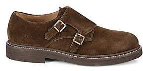 Brunello Cucinelli Men's Suede Monk-Strap Oxfords