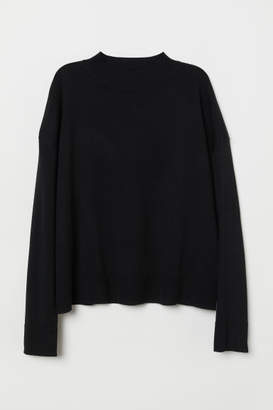 H&M Fine-knit Merino Wool Sweater - Black