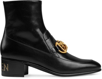 Gucci Horsebit chain loafer boots