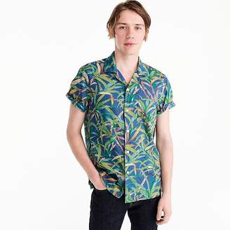 J.Crew Short-sleeve slub cotton shirt in palm print