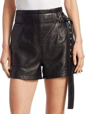 Utility Leather Shorts