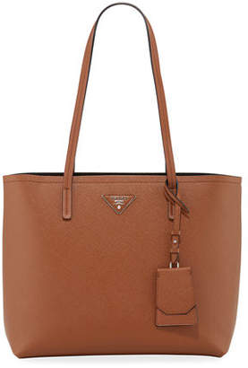 Prada Saffiano Leather Shoulder Tote Bag