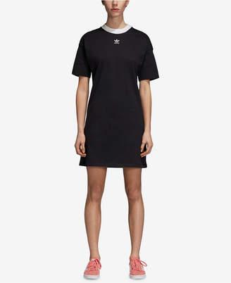 adidas Adicolor Cotton T-Shirt Dress