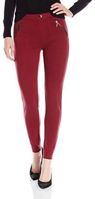 Kensie Jeans Women's Ponte Dual Front Zipper Pant
