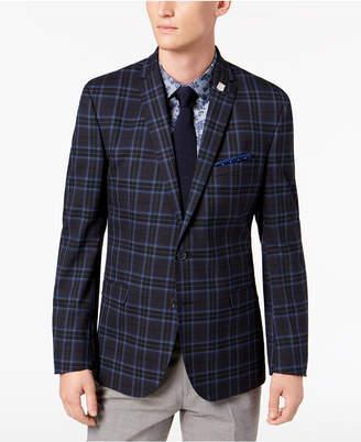 Nick Graham Men's Slim-Fit Dark Navy Plaid Sport Coat, Online Only