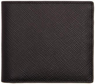 Smythson Black 6CC Panama Bifold Wallet