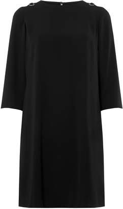 Dorothy Perkins Womens Black Eyelet Shift Dress