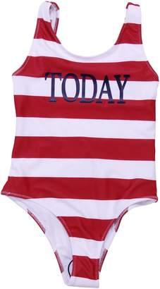 Alberta Ferretti Striped Lycra Today One Piece Swim Suit
