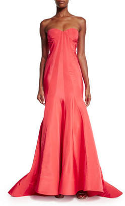 Zac Posen Strapless Faille Mermaid Gown, Tangerine $4,990 thestylecure.com