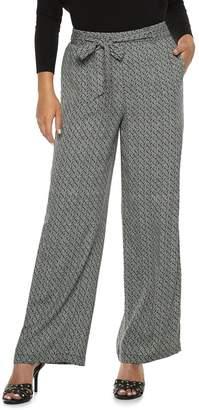 JLO by Jennifer Lopez Women's Menswear Wide-Leg Pants