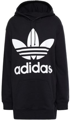 adidas Printed Cotton-blend Fleece Hooded Sweatshirt