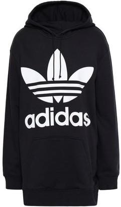adidas Printed Cotton-Blend Fleece Hooded Sweatshirt