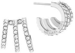 Michael Kors Modern Brilliance Crystal Pave Huggie Earrings/Silvertone