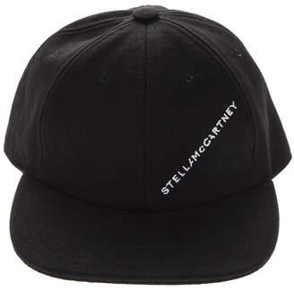 Stella McCartney Black Cotton Logo Hat