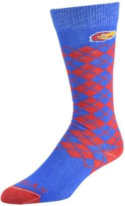 NCAA Women's Mojo Kansas Jayhawks Argyle Socks
