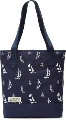Ralph Lauren Windsor Boat-Print Canvas Tote