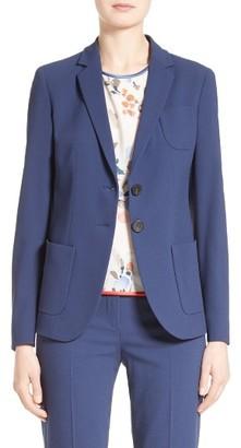 Women's Armani Collezioni Textured Stretch Wool Jacket $1,295 thestylecure.com
