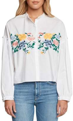 Willow & Clay Amoroso Embroidered Poplin Shirt