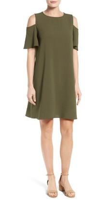 Petite Women's Bobeau Cold Shoulder Shift Dress $68 thestylecure.com