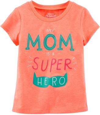 "Osh Kosh Oshkosh Girls' ""My Mom Is a Super Hero""; Orange"