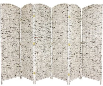 Oriental Furniture 6' Tall Recycled Newspaper Room Divider