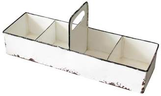Foreside Home and Garden Slotted Enamel Tray