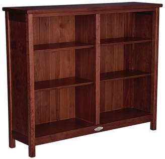 Touchwood Low Bookshelf, Walnut Brown