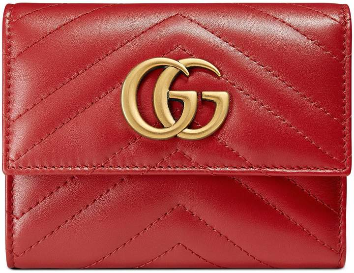 GucciGG Marmont matelassé wallet