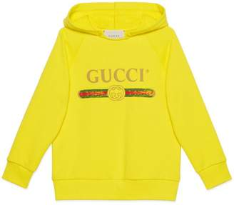 Gucci Children's hooded sweatshirt with logo